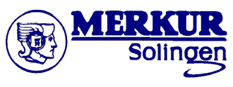 DOVO Solingen - The Merkur logo. The Solingen logo, under the main Merkur logo, is the trademark of the place and as such it is shared by all Solingen based manufacturers.