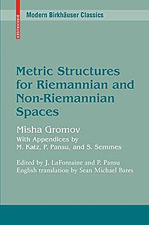 <i>Metric Structures for Riemannian and Non-Riemannian Spaces</i> Book by Michail Gromov