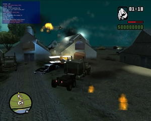 Multi Theft Auto - A screenshot of one of the earlier closed MTA:SA deathmatch (alpha version)
