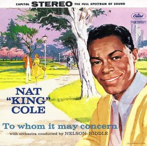 To Whom It May Concern (Nat King Cole album) - Image: Natconcern