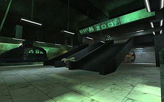 "Neocron - A ""Subway"" station in Neocron city"