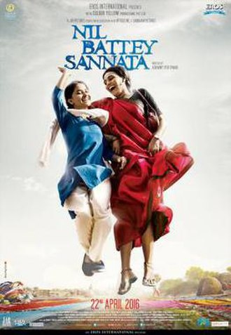 Nil Battey Sannata - Theatrical release poster