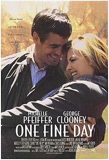<i>One Fine Day</i> (film) 1996 American romantic comedy film directed by Michael Hoffman