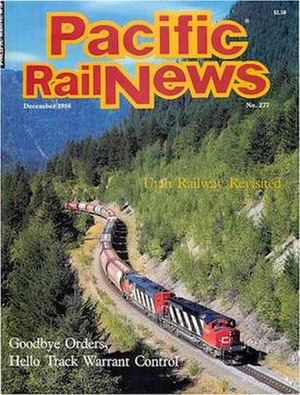 Pacific RailNews - Cover of December 1986 issue