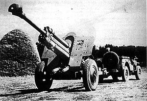 76 mm divisional gun M1939 (USV) - PaK 39(r). Note the muzzle brake.