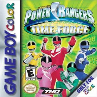 Power Rangers Time Force (video game) - Box art for the GBC version