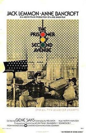 The Prisoner of Second Avenue - Theatrical release poster (film)