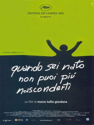 Once You're Born You Can No Longer Hide - Italian film poster