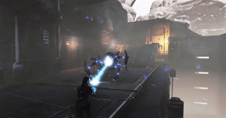 ReCore - Player character using ammunition matching the color of the opposing force