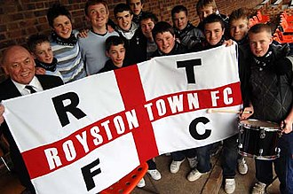Royston Town F.C. - Royston Town fans.