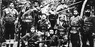 Military history of Armenia - Sepasdatsi Murat's group of fedayees, with him in the centre