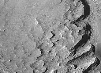 Schiaparelli (Martian crater) - Image: Schiaparelli Crater Layers