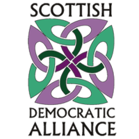 The logo of the Scottish Democratic Alliance