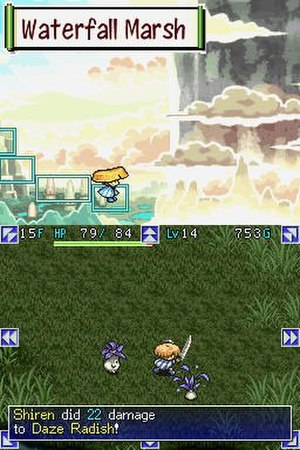 Mystery Dungeon: Shiren the Wanderer - Image: Shiren the Wanderer gameplay