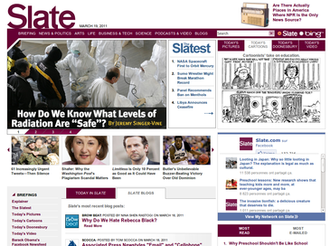Slate (magazine) - Image: Slate screenshot