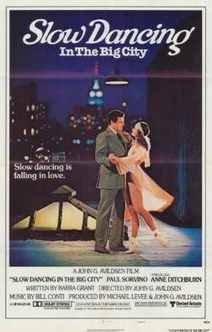 Slow Dancing in the Big City - Original theatrical poster