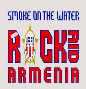 "Rock Aid Armenia - Cover of Rock Aid Armenia single ""Smoke on the Water"""