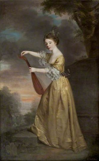 William Bell (artist) - Portrait of Sophia Anne Delaval, painted by William Bell in 1770