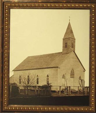 Maurice, Louisiana - The first St. Alphonsus Catholic Church in 1893