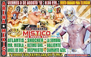 CMLL Super Viernes (August 2012) - Official poster for the August 3, Super Viernes