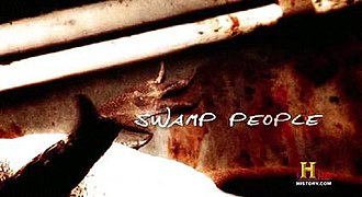 Swamp People - Title card of the show (season 1–3). Also used as a commercial intro bumper for seasons 1–5.
