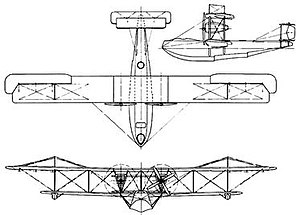 Vickers Valentia - Image: Technical drawing of the Vickers Valentia flying boat