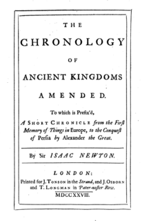 <i>The Chronology of Ancient Kingdoms Amended</i>