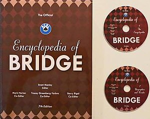 The Official Encyclopedia of Bridge - The 7th Edition cover and appended CDs