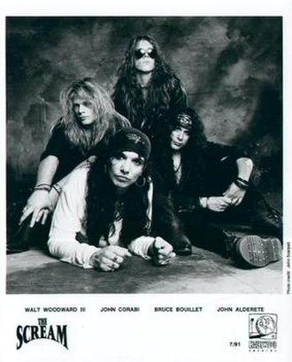 The Scream (band) - The Scream, 1991.  L-R: Walt Woodward III, John Corabi, Bruce Boulliet, and John Alderete.