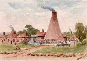 History of Harringay (1750–1880) - An early picture of the tile kilns on Green Lanes