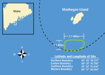 UMaine Deepwater Offshore Wind Test Lageplan