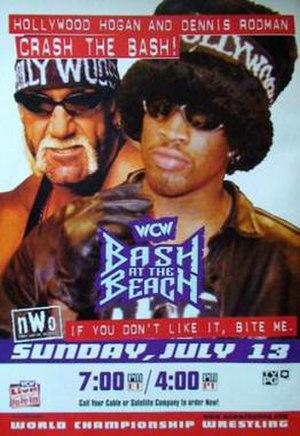 Bash at the Beach - Promotional poster featuring Hollywood Hogan and Dennis Rodman