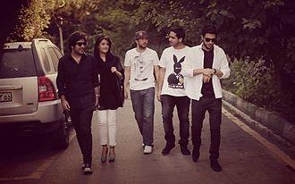 Zedbazi - Left to right: Alireza JJ, Nassim, Sohrab MJ, Sijal, and Mehrad Hidden; Zedbazi Documentary (2014).