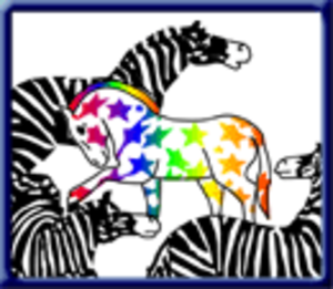 Community High School (Ann Arbor, Michigan) - CHS's informal mascot, the rainbow-colored AntiZebra, symbolizes nonconformism and individuality