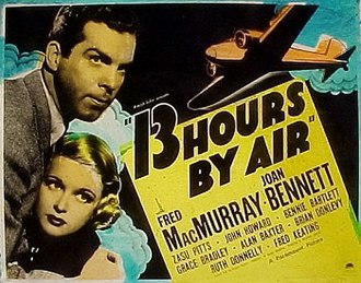 13 Hours by Air - Theatrical poster