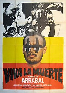 1971 French theatrical release poster for Arrabal's film Viva la muerte.jpeg