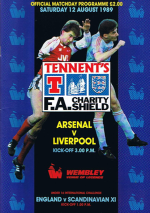 1989 FA Charity Shield - The match programme cover