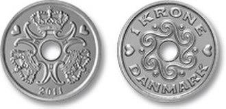Danish krone - Image: 1 krone coin