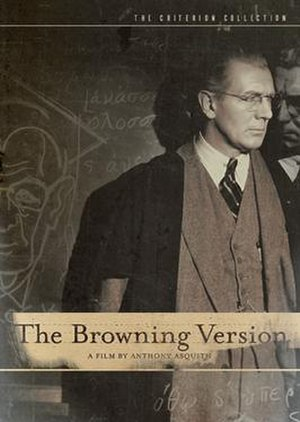 The Browning Version (1951 film) - Redgrave on the cover of  The Criterion Collection DVD release of The Browning Version