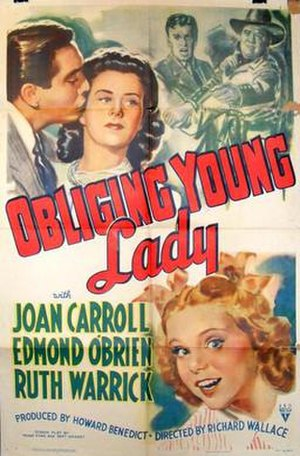 Obliging Young Lady - Theatrical release poster