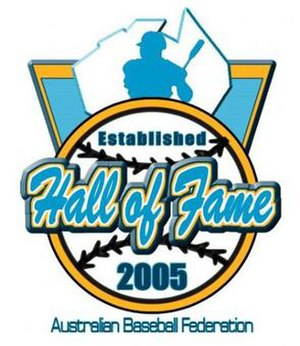 Baseball Australia Hall of Fame - The Baseball Australia Hall of Fame logo.