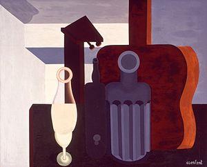 Amédée Ozenfant - Amédée Ozenfant, 1920-21, Nature morte (Still Life), oil on canvas, 81.28 cm x 100.65 cm, San Francisco Museum of Modern Art