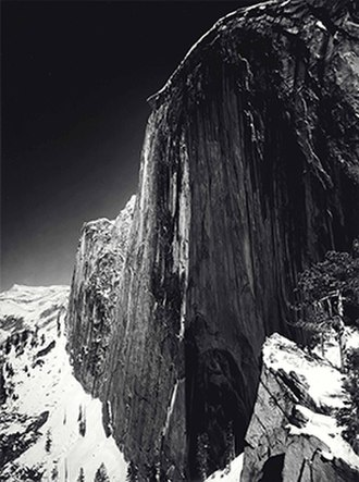 Ansel Adams - Monolith, the Face of Half Dome, Yosemite National Park, California (1927).