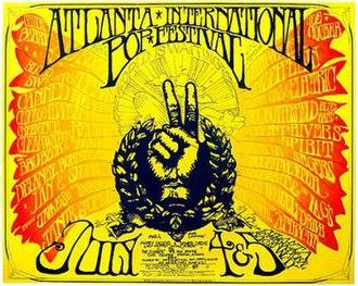 Atlanta International Pop Festival (1969) - Poster for the event