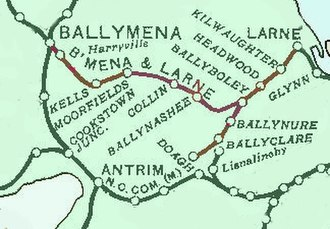 Ballymena and Larne Railway - The line in 1906