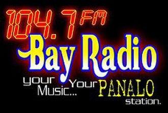 DWEY - 104.7 Bay Radio Batangas logo (1998-2013)