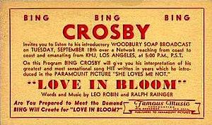 Bing Crosby Entertains - Image: Bing Crosby Entertains Love in Bloom