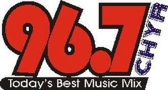 CHYR-FM - Cheer-FM logo 2001-2008