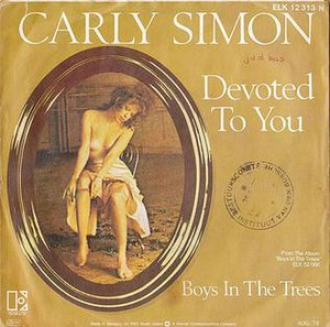 Devoted to You (song) - Image: Carly Simon James Taylor Devoted To You