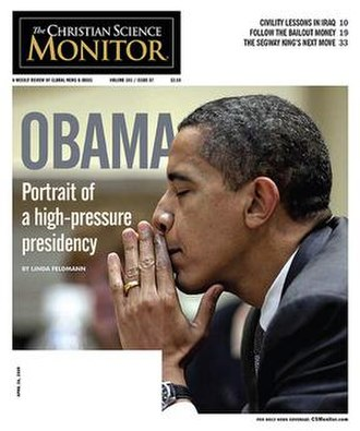 The Christian Science Monitor - The cover of The Christian Science Monitor for April 26, 2009